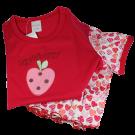 Mädchen Schlafanzug kurz rot (Schiesser Nachtwäsche)
